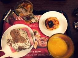 Tosta mista & Pastel de nata