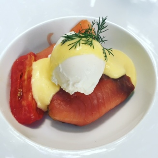 Eggs benedict with Somked Salmon